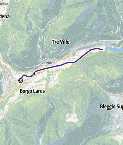 Map / Fiume Sarca dalla confluenza Torrente Arnò - Bacino Ponte Pià A1