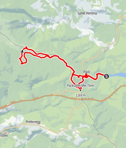 Karte / MTB Packer-Stausee-Knödelhütte-Bernsteinhütte