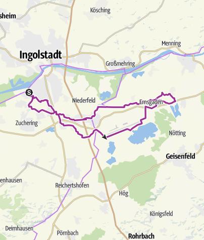 Karte / 16. August 2016 Ingoradler Nachhmittagstour zum Haberfelder nach Rockolding