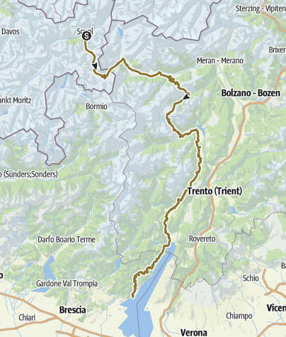 Karte / Gardasee-Ritt