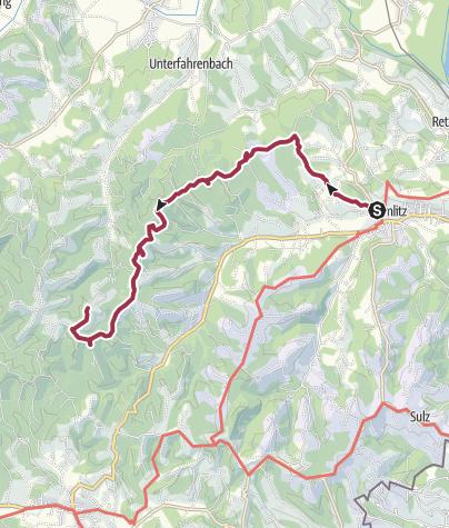 Karte / Weinwanderung von Gamlitz zum Weingut Buschenschank Pölzl