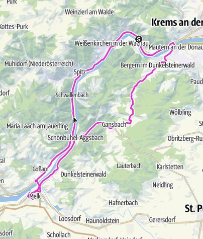 Karte / Dürnstein nach Melk
