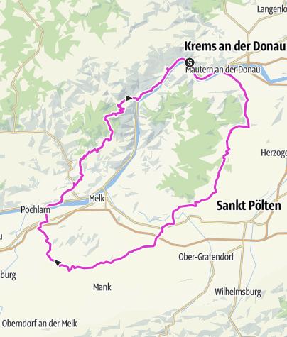 Karte / Dürnstein Richtung St. Pölten