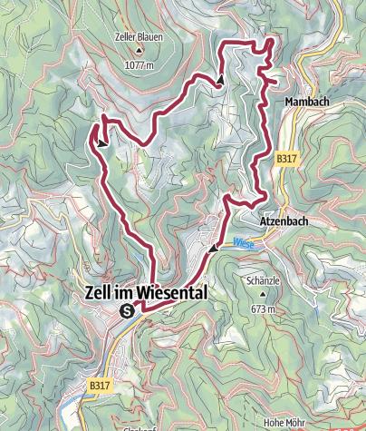 Karte / Zell, Adelsberg, Pfaffenberg Maria Frieden zurück
