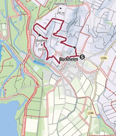 Karte / Weinlehrpfad Burkheim