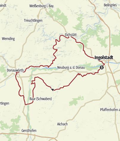 Karte / 25. August 2016 Rollertour ins Donauwörther Land Kloster Holzen