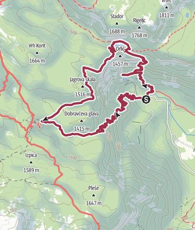 Map / Crno Jezero