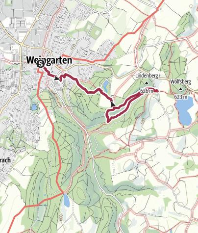 """Cartina / Spazierweg """"Weingartener Bächle"""""""
