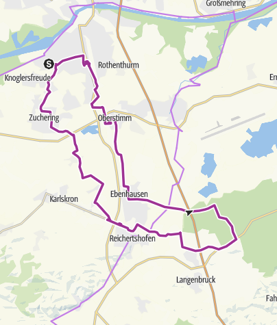 Karte / 26. August 2016 Vormittags E-Bike Tour nach Hög
