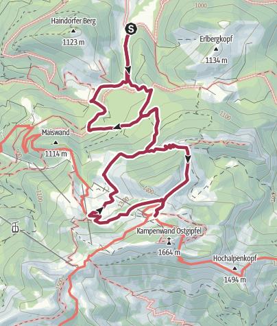 Karte / Steinlingalm unterhalb der Kampenwand