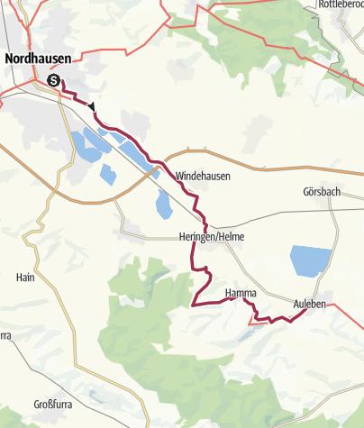 Karte / Lutherweg (Nordhausen-Auleben)