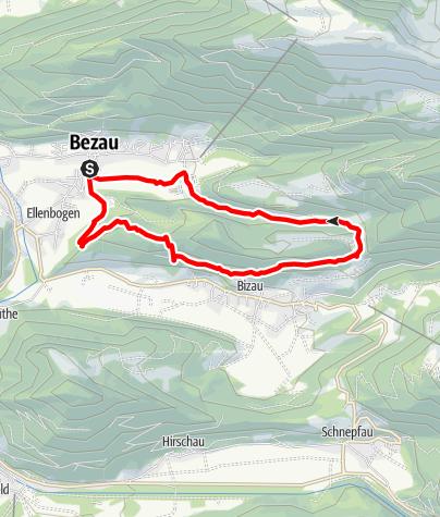 Karte / Bezau   Felsenrunde