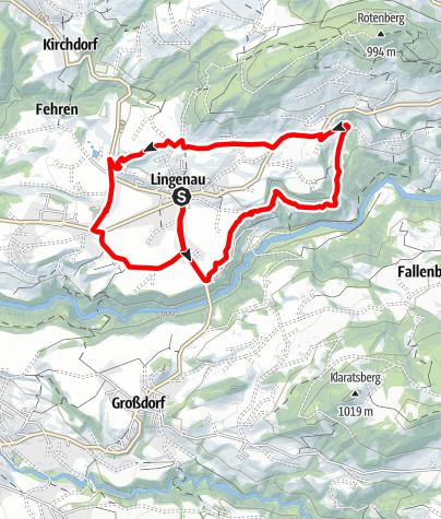 Map / Lingenau | Village Loop