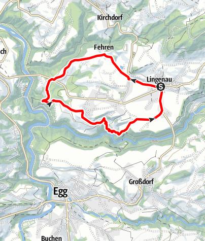 Karte / Lingenau | Quelltuffrunde