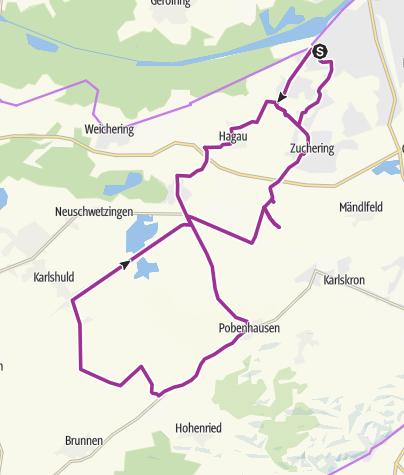 Karte / 30. August 2016 Ingoradler E-Bike Tour Nach Niederarnbach
