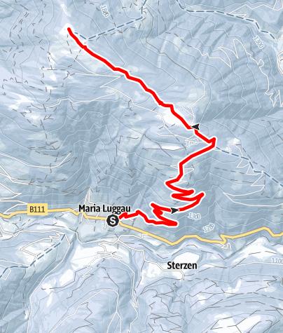 Karte / Skitour Maria Luggau - Samalm