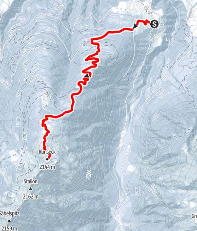 Karte / Skitour Nostra - Runseck