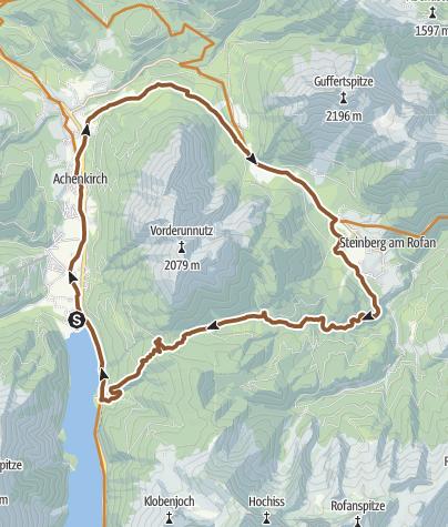 Map / Achensee: Hochunnutz round tour