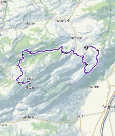 Karte / Alle Alpsteinbahnen