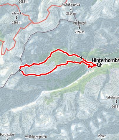 Karte / Rundweg Kanzberg Hinterhornbach