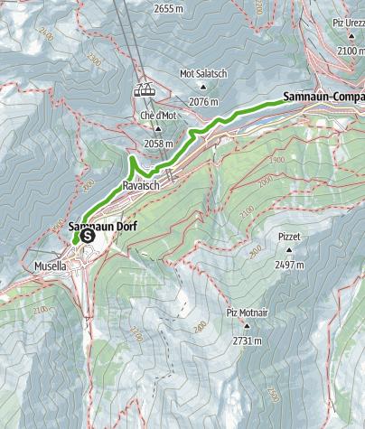 Map / Talwanderung Samnaun am Südhang