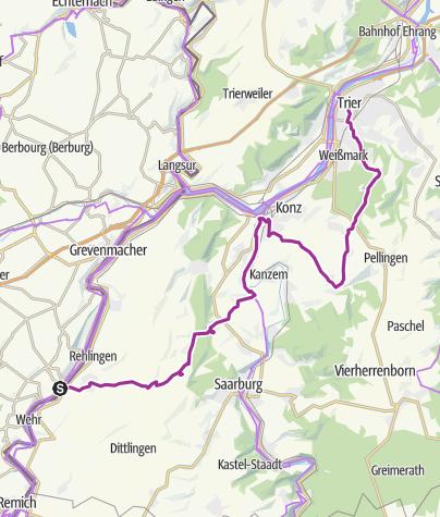Carte / Wormeldange-Trier