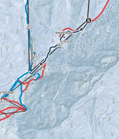 Map / 5.Salewa Asitz Skitour race - Vertical 400Hm