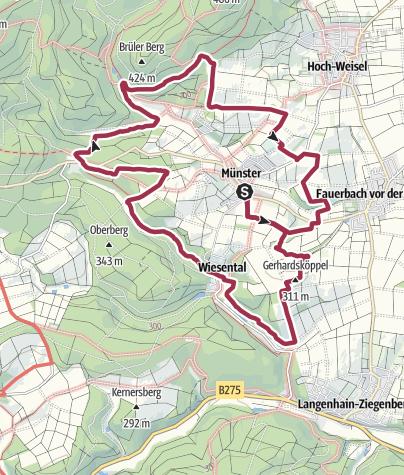 Karte / Alte Pfade rund um Münster