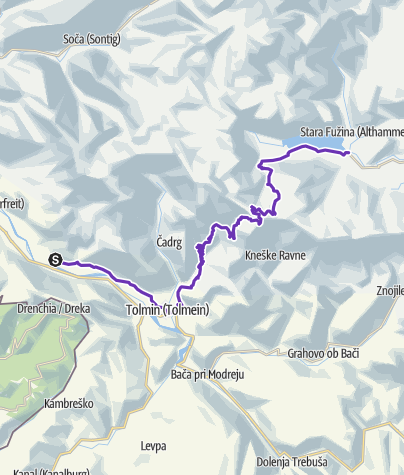 Map / AlpineMan Xtreme Triathlon Run Course