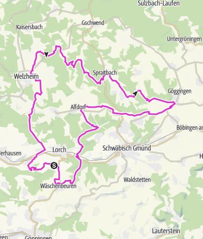 Karte / Welzheimer Wald