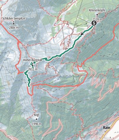 Karte / Stubaier Höhenweg - Etappe 1