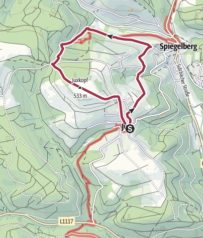 Karte / Spiegelberg J2 (Jux)