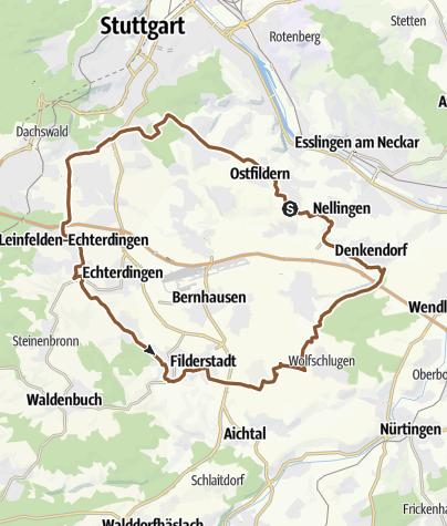 Karte / FilderRadWeg