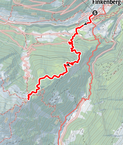 Karte / Gamshütte - Zustieg von Finkenberg