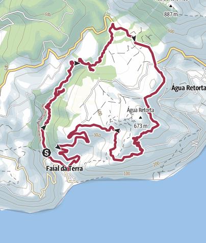 Karte / Sao Miguel: Um den Pico da Agua Retorta