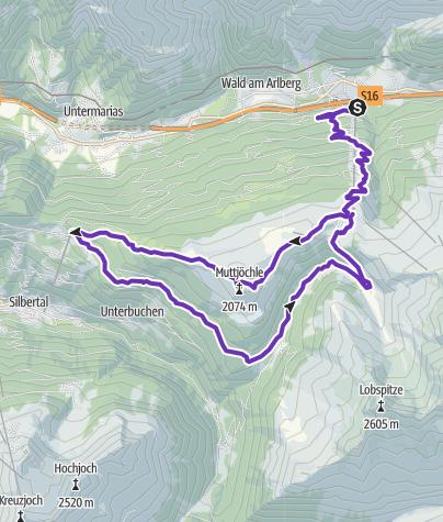 Karte / SONNENKOPF TRAIL - Der neue Berglauf im Klostertal  (12. August 2017)