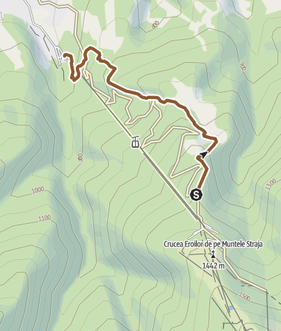 Map / MTB Traseul Lupilor - Straja (Gondola serviced!)