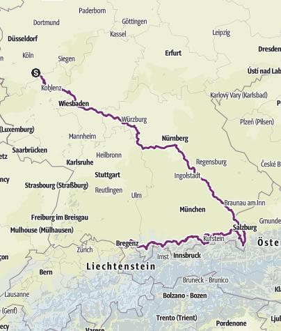 Карта / 201606-Bonn, Salzburg, Königssee, Bodensee