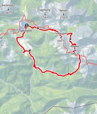 Karte / VST2016 - Taubenstein Rotwand Pfanngraben