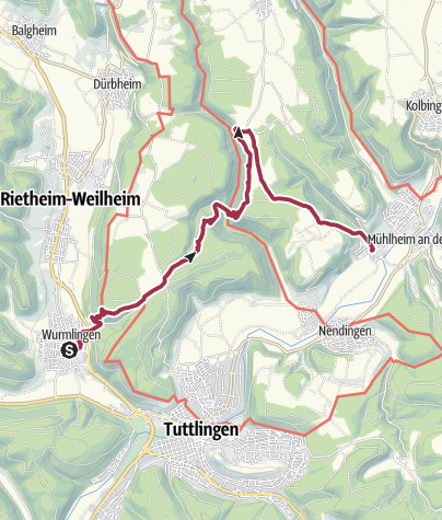 Karte / Ruinen über dem Ursental und die Heide Kraftstein