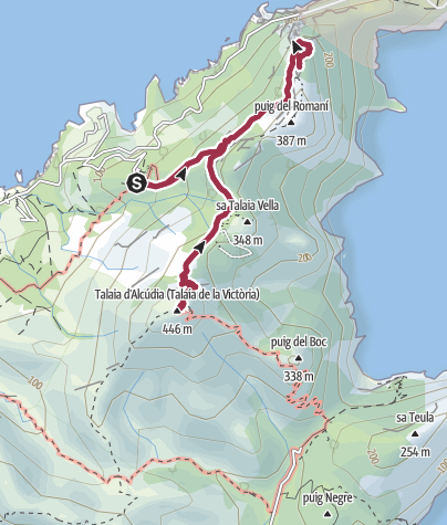 Karte / Penya Roja & Talaia d'Alcudia