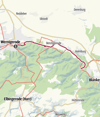 Karte / P 18  Wernigerode - Michaelstein [Di 2.5.17]