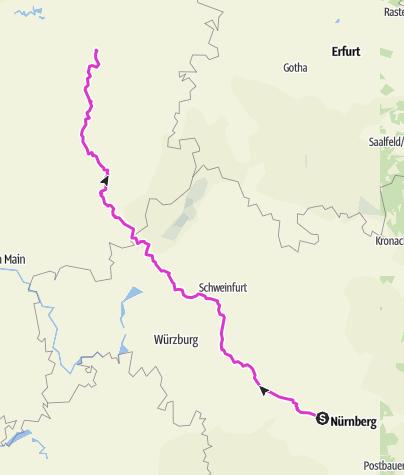Karte / Rennradtour Veitsbronn_Homberg (Efze)