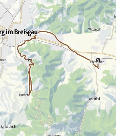 Karte / tour 108. Von Kirchzarten zur Schauinsland-Talstation
