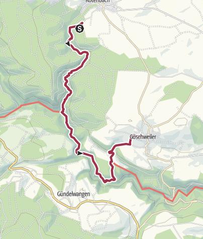Karte / Rötenbachschlucht bis Göschweiler