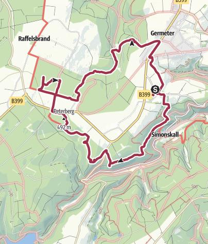 Karte / Auf den Spuren der Allerseelenschlacht im Hürtgenwald