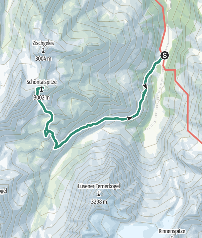 Map / Schöntalspitz 3008m, Sellrain (3), Stubaier A.