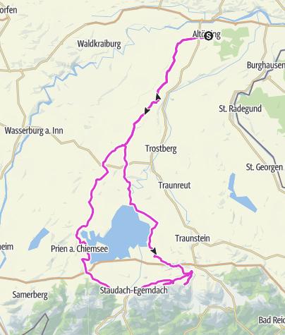 Karte / Altötting Maria Eck Chiemsee Umrundung