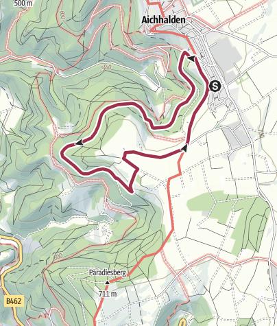 Karte / Aichhalden Holzabfuhrweg