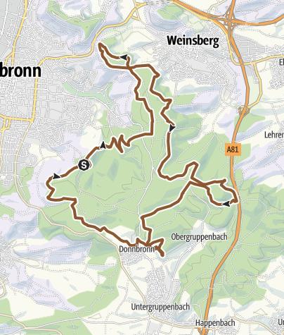 Karte / IVB MTB Tour Nr. 1 - Stadtwaldrunde
